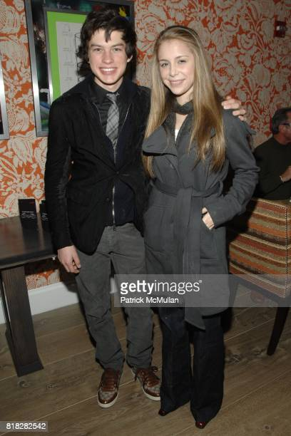 Graham Phillips and McKenzie Vega attend THE CINEMA SOCIETY SCREENVISION host the after party for 'THE GHOST WRITER' at Crosby Street Hotel on...