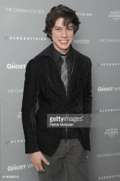 Graham Phillips attends THE CINEMA SOCIETY SCREENVISION host the screening of 'THE GHOST WRITER' at Crosby Street Hotel on February 18 2010