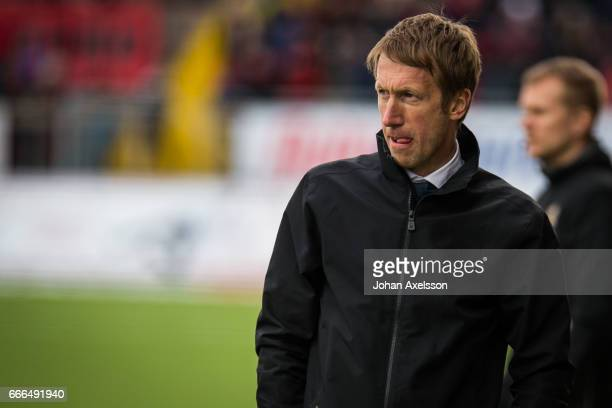 Graham Potter head coach of Ostersunds FK during the Allsvenskan match between Ostersunds FK and IFK Norrkoping at Jamtkraft Arena on April 9 2017 in...