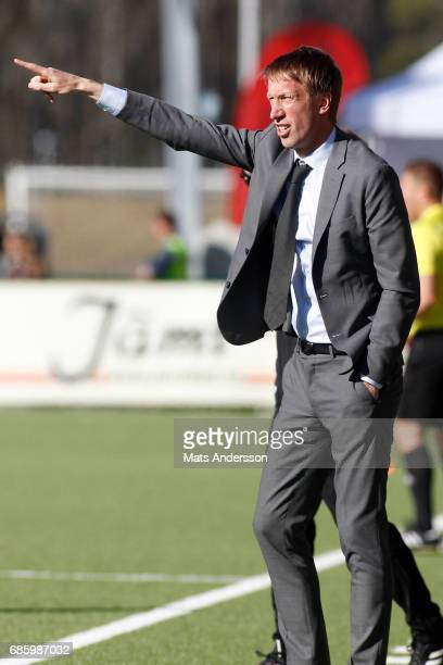 Graham Potter head coach of Ostersunds FK during the Allsvenskan match between Ostersunds FK and Kalmar FF at Jamtkraft Arena on May 20 2017 in...