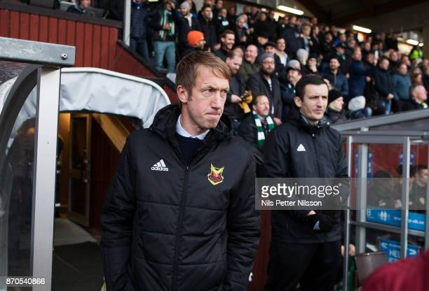 Graham Potter head coach of Ostersunds FK during the Allsvenskan match between Jonkopings Sodra IF and Ostersunds FK at Stadsparksvallen on November...