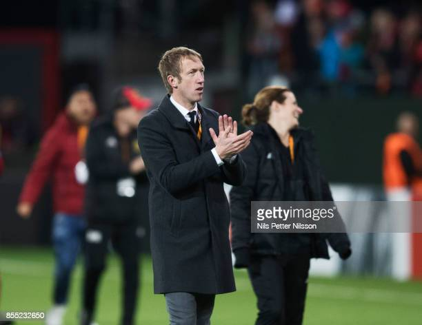Graham Potter head coach of Ostersunds FK during the UEFA Europa League group J match between Ostersunds FK and Hertha BSC at Jamtkraft Arena on...