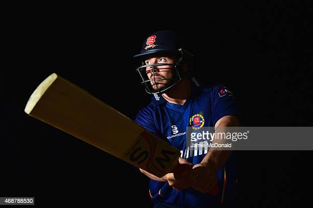 Graham R Napier of Essex poses during an Essex CCC Photocall on April 7 2015 in Chelmsford England