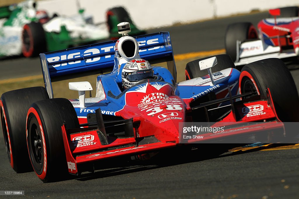 <a gi-track='captionPersonalityLinkClicked' href=/galleries/search?phrase=Graham+Rahal&family=editorial&specificpeople=709487 ng-click='$event.stopPropagation()'>Graham Rahal</a>, driver of the #38 Service Central Chip Ganassi Racing Dallara Honda, races in the IZOD IndyCar Series Indy Grand Prix of Sonama race at Infineon Raceway on August 28, 2011 in Sonoma, California.