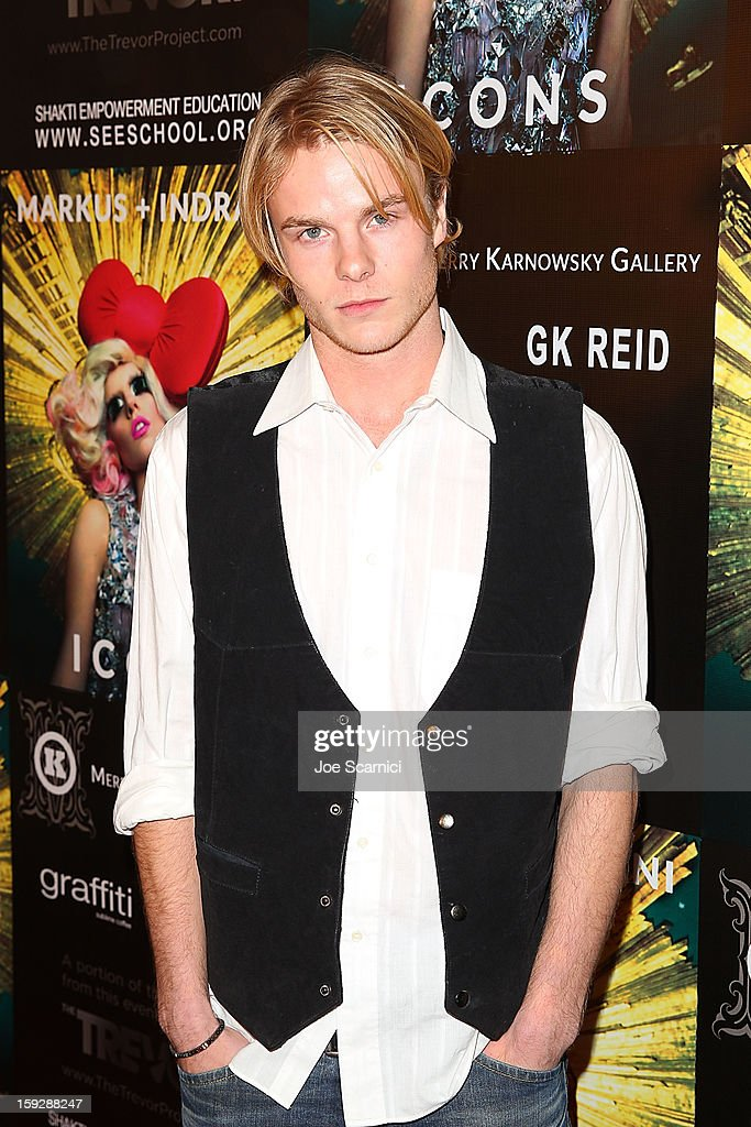 Graham Rogers arrives at Markus + Indrani Icons book launch party hosted by Carmen Electra benefiting The Trevor Project at Merry Karnowsky Gallery & Graffiti on January 10, 2013 in Los Angeles, California.