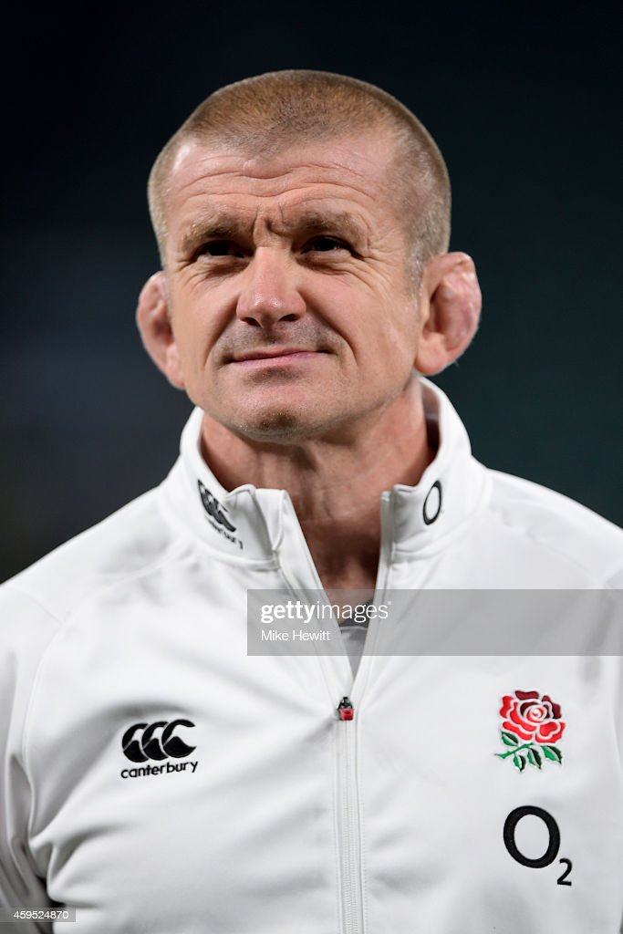 Graham Rowntree the England forwards coach during the QBE international match between England and Samoa at Twickenham Stadium on November 22 2014 in...
