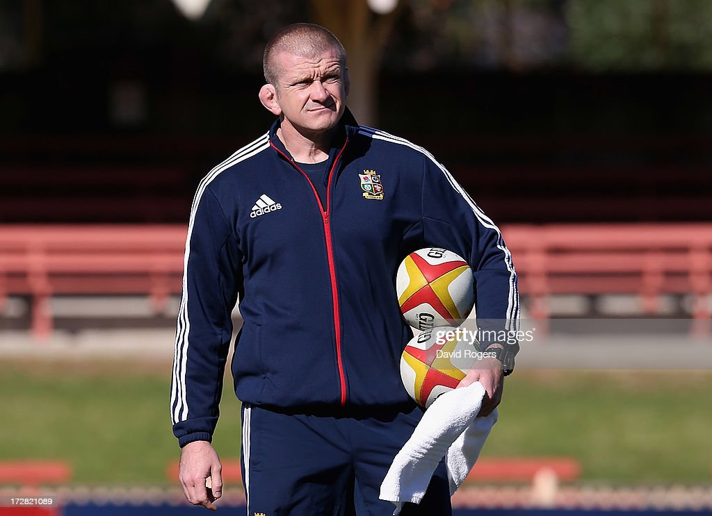 Graham Rowntree the Lions forwards coach looks on during the British and Irish Lions Captain's Run at North Sydney Oval on July 5 2013 in Sydney...
