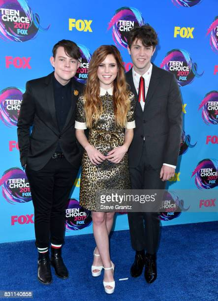 Graham Sierota Sydney Sierota and Noah Sierota of Echosmith attend the Teen Choice Awards 2017 at Galen Center on August 13 2017 in Los Angeles...