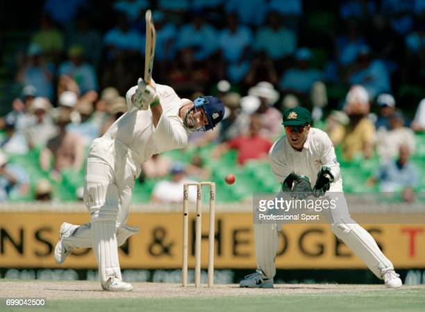 Graham Thorpe batting for England during his innings of 123 in the 5th Test match between Australia and England at the WACA Perth Australia 5th...