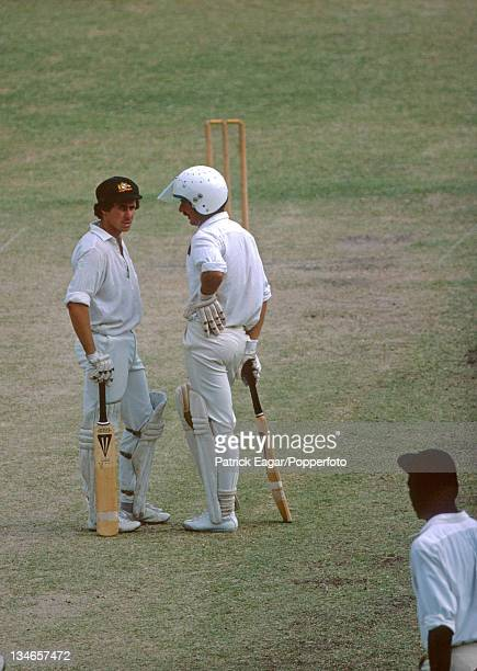 Graham Yallop and Graeme Wood West Indies v Australia 2nd Test Bridgetown March 197778