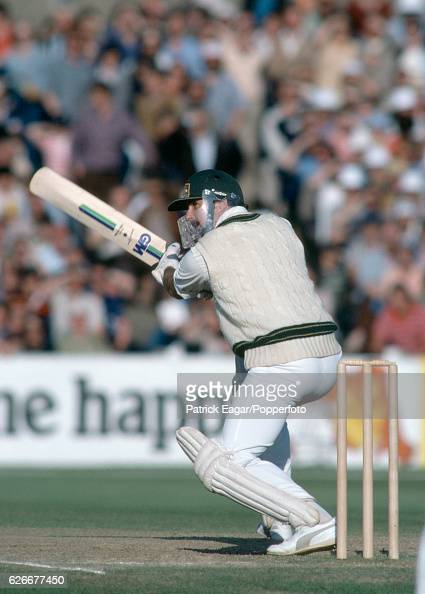 Graham Yallop batting for Australia during his secondinnings score of 114 in the 5th Test match between England and Australia at Old Trafford...