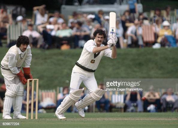 Graham Yallop batting for Australia during the Prudential World Cup Warmup match between Australians and New Zealanders at Arundel 2nd June 1979 The...