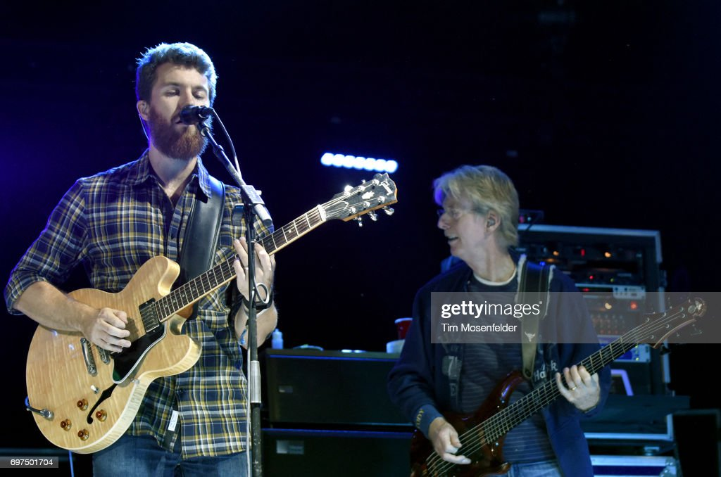 Grahame Lesh (L) and Phil Lesh of Phil Lesh & The Terrapin Family Band perform during the Monterey International Pop Festival 2017 at Monterey County Fairgrounds on June 18, 2017 in Monterey, California.