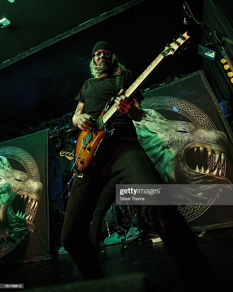 Grahame Leslie of British Lion performs on stage on March 27, 2013 in Birmingham, England.