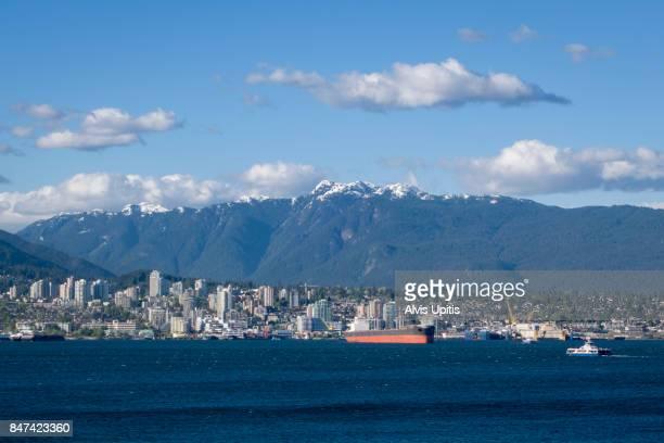 Grain ship in Vancouver Harbor