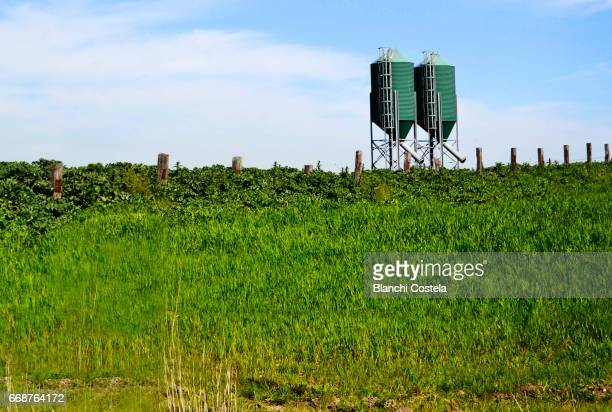 Grain silos in nature in Cadiz
