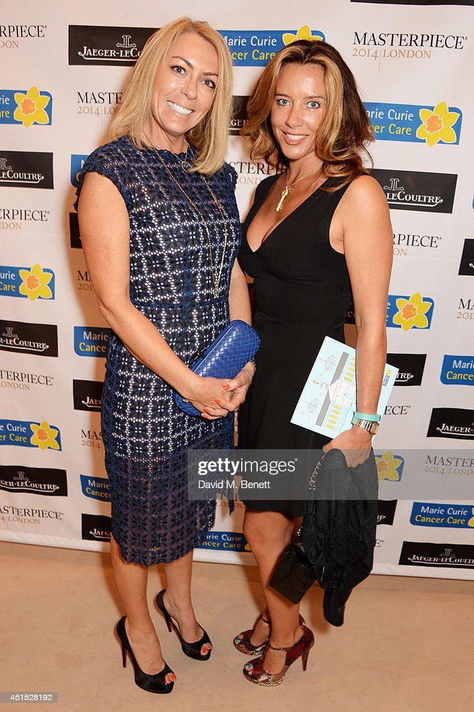 Grainne Stevenson (L) and guest arrive at The Masterpiece Marie Curie Party supported by Jaeger-LeCoultre and hosted by Heather Kerzner at The Royal Hospital Chelsea on June 30, 2014 in London, England.