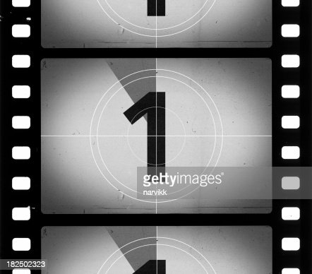 grainy film frame countdown stock photo