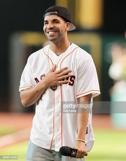 Grammy Award winner Drake is introduced to the crowd as he kicks off his threeday Houston Appreciation Weekend event with a special Houston...