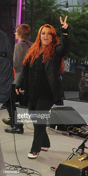 Grammy award winner Wynonna Judd performs during the GRAMMY Block Party at Owen Bradley Park on May 8 2012 in Nashville Tennessee