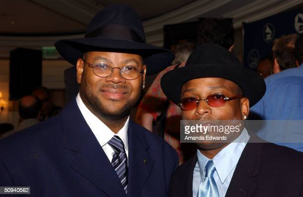 Grammy Award winning producer duo Jimmy Jam and Terry Lewis attend the 2004 Governors Membership Awards luncheon at the Beverly Hills Hotel on June 8...