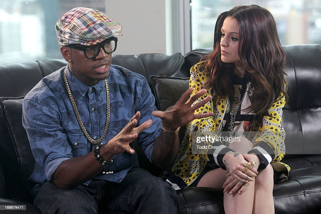 Grammy Award winning singer <a gi-track='captionPersonalityLinkClicked' href=/galleries/search?phrase=Ne-Yo&family=editorial&specificpeople=451543 ng-click='$event.stopPropagation()'>Ne-Yo</a> and platinum-selling artist <a gi-track='captionPersonalityLinkClicked' href=/galleries/search?phrase=Cher+Lloyd&family=editorial&specificpeople=7229738 ng-click='$event.stopPropagation()'>Cher Lloyd</a> come together in studio to discuss fan submissions as they begin to write an original song inspired by fans sharing their 'It's All Good' moment. To inspire the song, <a gi-track='captionPersonalityLinkClicked' href=/galleries/search?phrase=Ne-Yo&family=editorial&specificpeople=451543 ng-click='$event.stopPropagation()'>Ne-Yo</a> and Cher are asking fans to share what keeps them looking on the bright side on Facebook, Twitter and Instagram using hashtag #itsallgood through May 20. Visit www.facebook.com/Fruttare for more information. #itsallgood at TenTen Wilshire on May 8, 2013 in Los Angeles, California.
