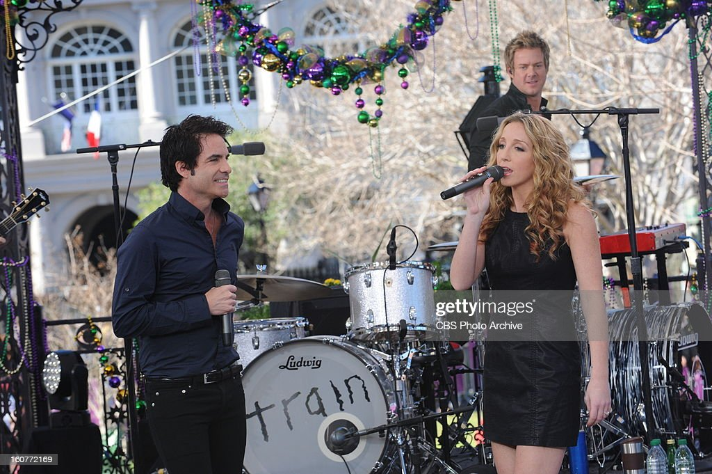 Grammy Award-winning band Train serves as the special guest house band, performing their hit songs live on the New Orleans set of THE TALK, Friday, February 01, 2013. All week THE TALK broadcasts live from CBS Super Bowl Park at Jackson Square in the heart of the historic French Quarter in New Orleans leading up to Super Bowl XLVII airing on the CBS Television Network.