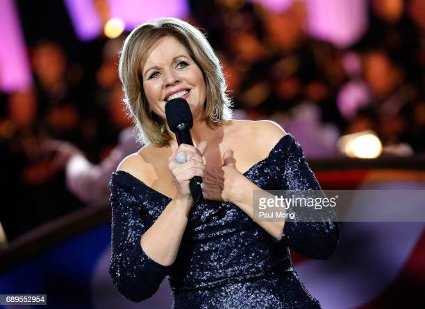 Grammy Awardwinning classical music artist Renee Fleming performs at PBS' 2017 National Memorial Day Concert at US Capitol West Lawn on May 28 2017...