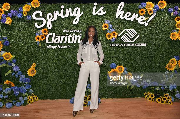 Grammy AwardWinning superstar and allergy sufferer Kelly Rowland at the Claritin and Boys Girls Club kickoff event in New York City celebrating...