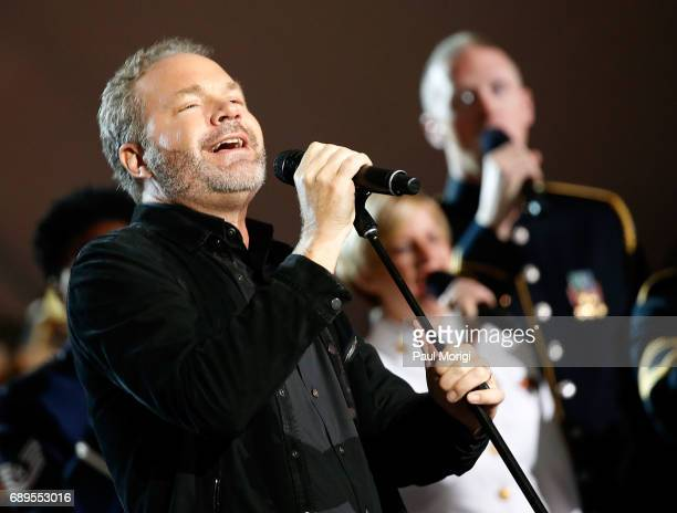 Grammy nominated multiplatinum selling artist John Ondrasik of Five for Fighting performs at PBS' 2017 National Memorial Day Concert at US Capitol...