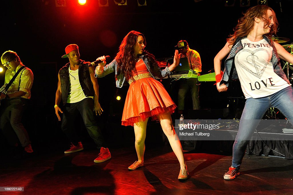 Grammy nominated singer Britt Nicole (C) performs live at The Roxy Theatre on January 9, 2013 in West Hollywood, California.