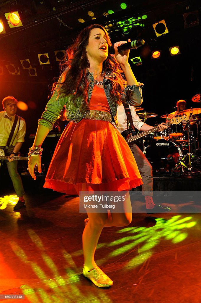 Grammy nominated singer Britt Nicole performs live at The Roxy Theatre on January 9, 2013 in West Hollywood, California.