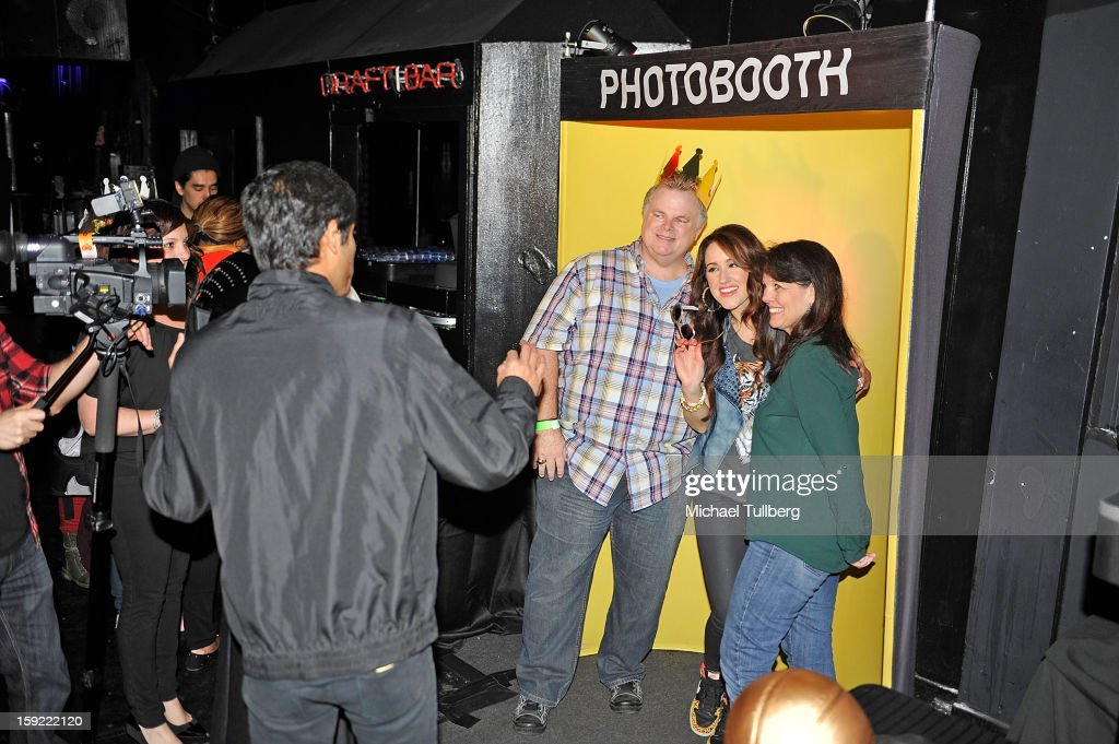 Grammy nominated singer Britt Nicole (2nd from R) poses with fans at The Roxy Theatre on January 9, 2013 in West Hollywood, California.