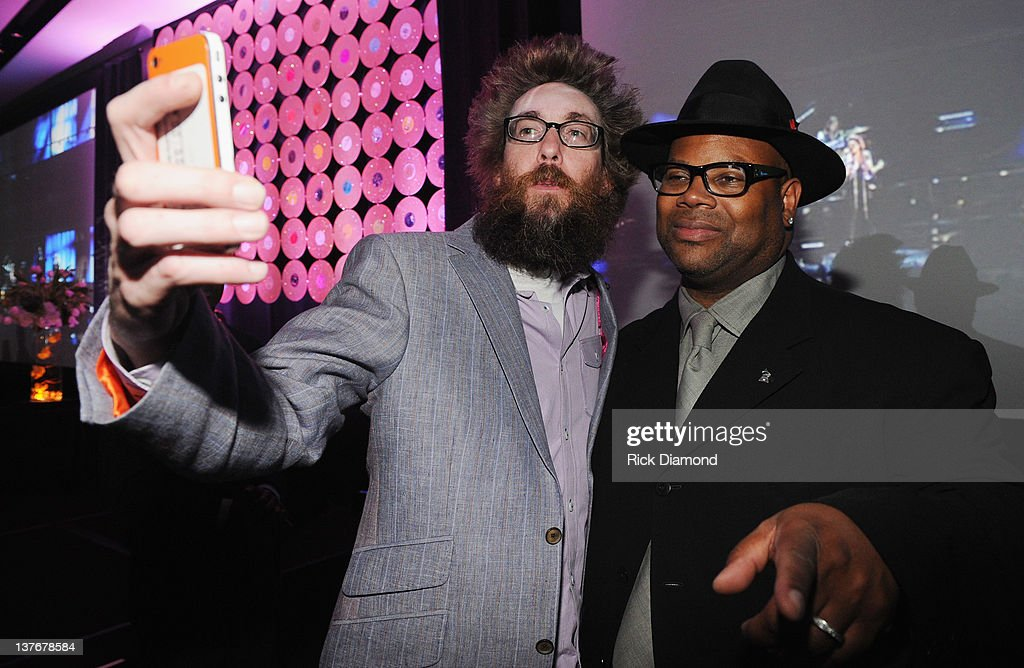 Grammy Nominee David Crowder and Jimmy Jam attends The Georgia GRAMMY Nominee Reception at W Atlanta Downtown on January 24 2012 in Atlanta Georgia