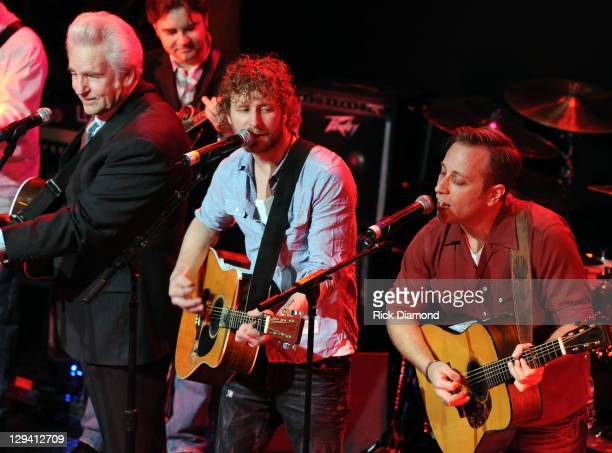 Grammy Nominee Del McCoury joins Grammy Nominee Dierks Bentley along with The Black Keys Dan Auerbach at Dierks Bentley Friends 'Up on the Ridge' at...