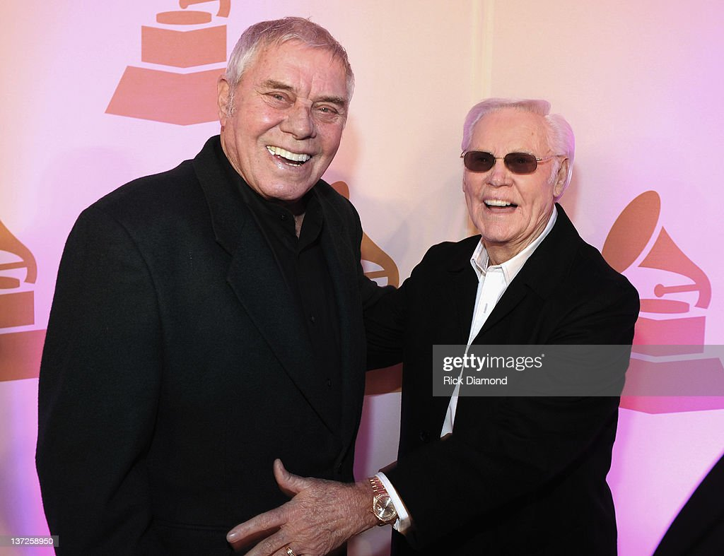 Grammy Nominee Tom T. Hall and George Jones attend The Nashville GRAMMY Nominee Party at the Loews Vanderbilt Hotel on January 17, 2012 in Nashville, Tennessee.