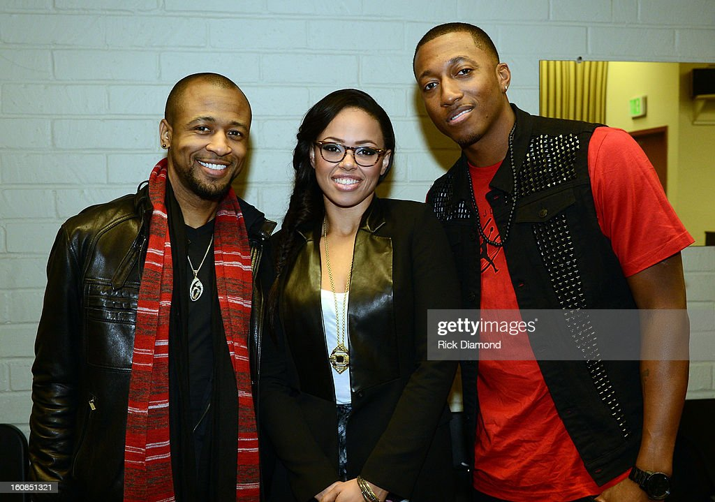 Grammy Winner R&B Artist Tony Rich, Singer Elle Varner and musician Lecrae backstage during The 55th Annual GRAMMY Awards - GRAMMY Camp Basic Training held on the campus of USC - Booth Ramos Hall on February 6, 2013 in Los Angeles, California.