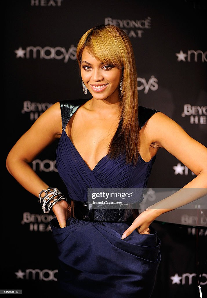 Grammy winning recording artist Beyonce launches her new fragrance ''Heat'' at Macy's Herald Square on February 3, 2010 in New York City.