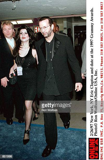 2/26/97 Grammys Eric Clapton at the Grammys mj/MK