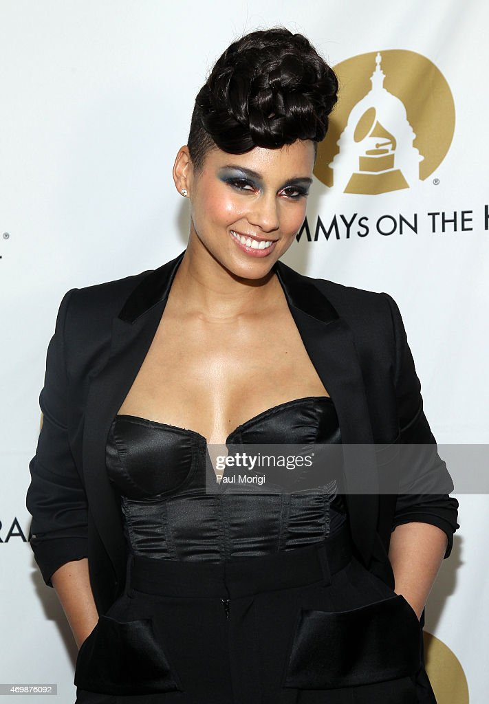 GRAMMYwinning artist songwriter and producer Alicia Keys is presented with the Recording Artists' Coalition Award at the 2015 GRAMMYs ON THE HILL...