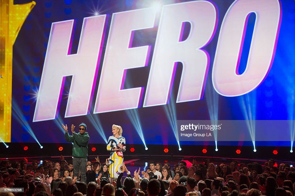 AWARDS - Grammy-winning singer/songwriter Gwen Stefani was honored with the 2016 RDMA 'Hero' Award. Stefani is being recognized for the positive impact she has on fans, inspiring them to do good. 'Disney Channel Presents the 2016 Radio Disney Music Awards' airs Sunday, May 1 (7:00 p.m. EDT). PHARRELL, GWEN