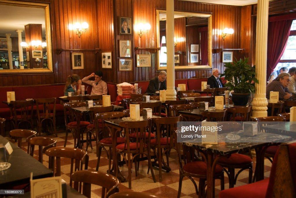 Gran Cafe de Gijon. : Stock Photo