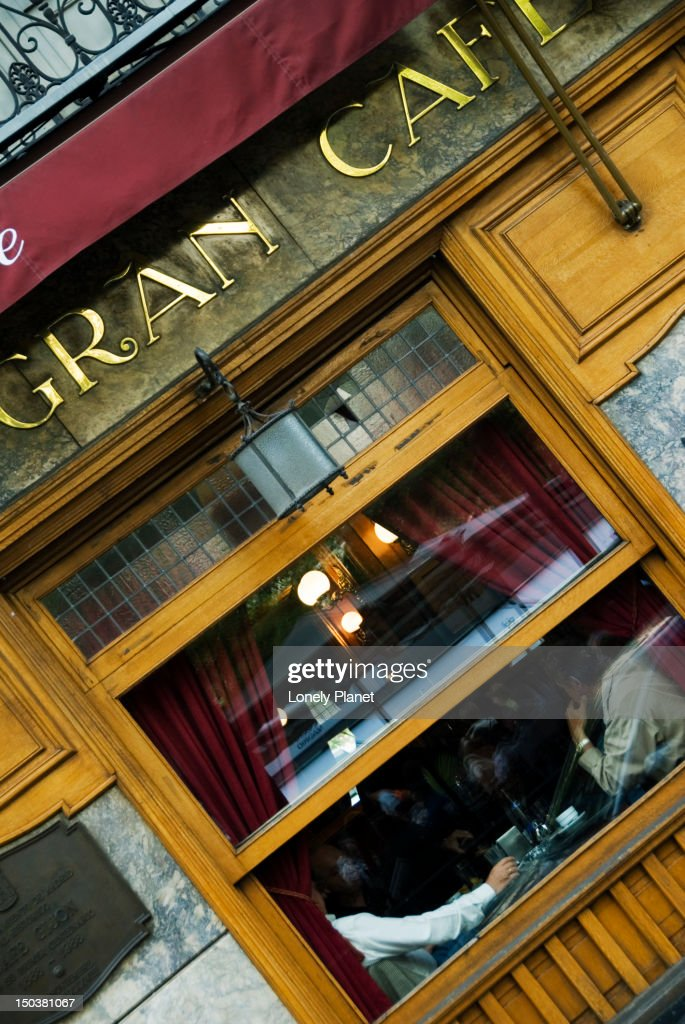 Gran Cafe de Gijon. : Stock Photo