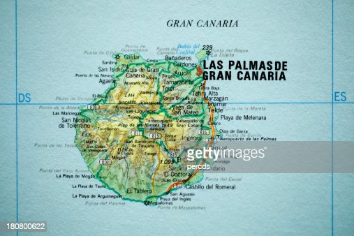 Gran Canaria Carte Vintage Photo | Thinkstock
