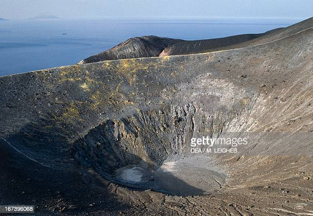 Gran Cratere on the island of Vulcano Aeolian Islands Sicily Italy