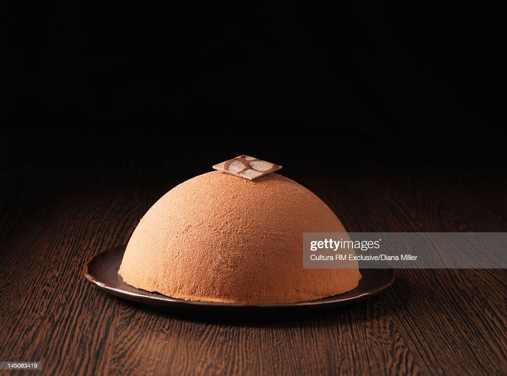 Gran Marnier chocolate bomb cake : Stock Photo