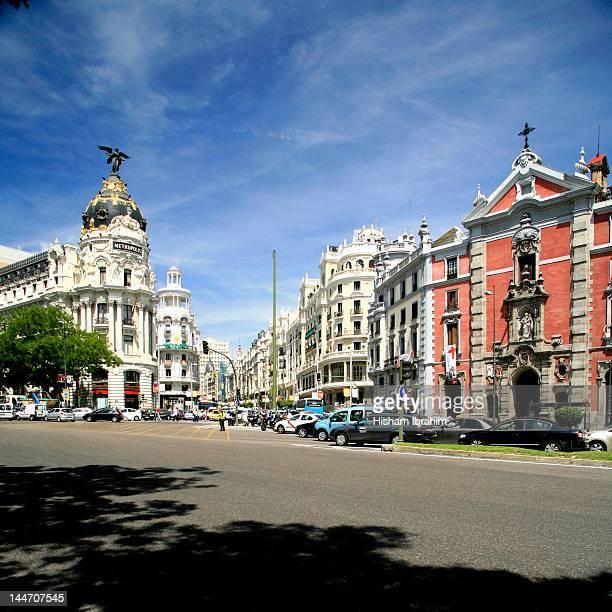 Gran Via and Metropolis building, Madrid