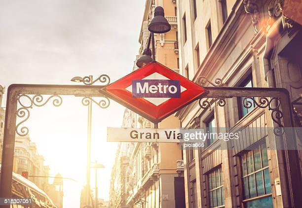 Della metropolitana di Gran via di Madrid