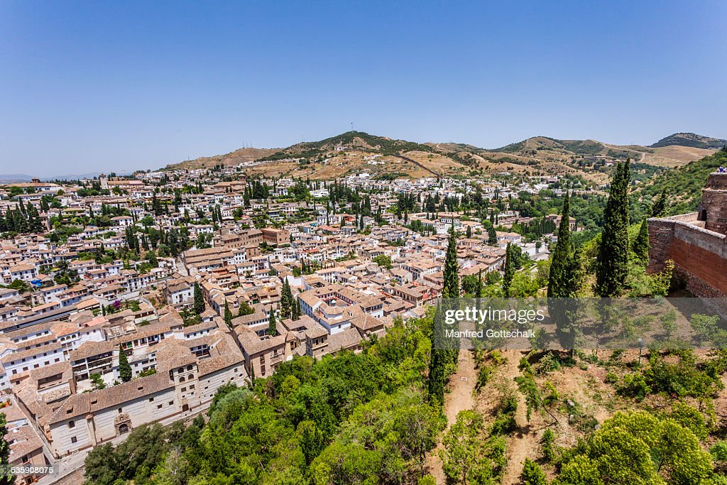 Granada historical centre and Albayzin : Stock Photo