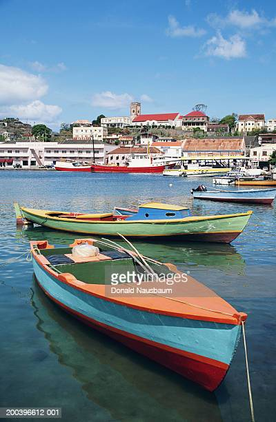Granada, St George's, boats moored in harbour